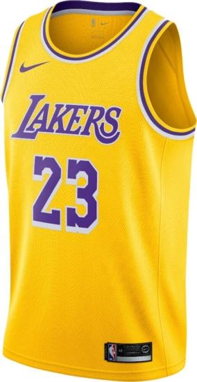La Lakers Yellow Lebron James Jersey