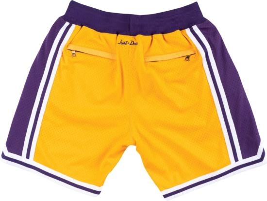 La Lakers Yellow Purple White Shorts