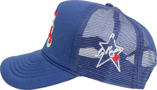 La Ropa Blue Atlanta Braves Trucker Hat