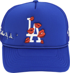 L.A. Dodgers Lips Embroidered Trucker Hat