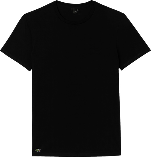 Lacoste Black Crewneck Undershirt