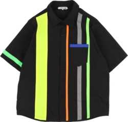 Landlord Black Shirt With Neon Stripes