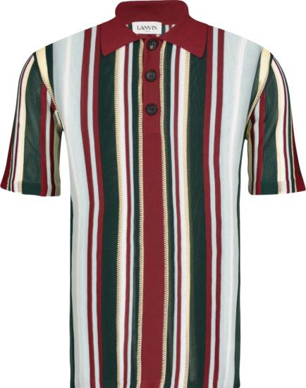 Lanvin Multicolor Vertially Striped Polo