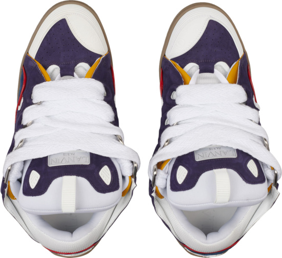 Lanvin Purple And White Curb Sneakers