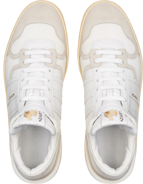 Lanvin White High Top Clay Sneakers