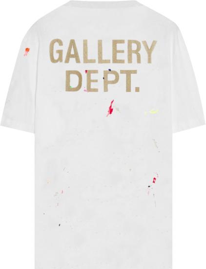 Lanvin X Gallery Dept Paint Splatter Logos T Shirt