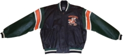 Leather Miami Hurricans Jacket Worn By Denzel Curry In Ricky Music Video