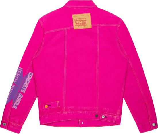 Levis X Heron Preston Neon Print Denim Jacket
