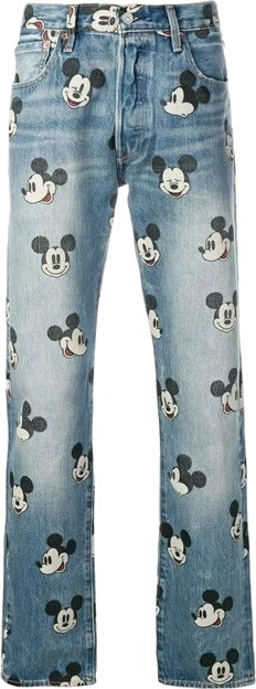 Levi's X Mickey Mouse Print Jeans