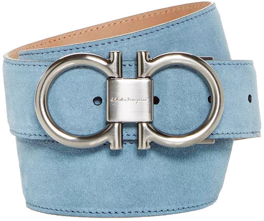 Light Blue Salvatore Ferragamo Belt Worn By Gucci Mane