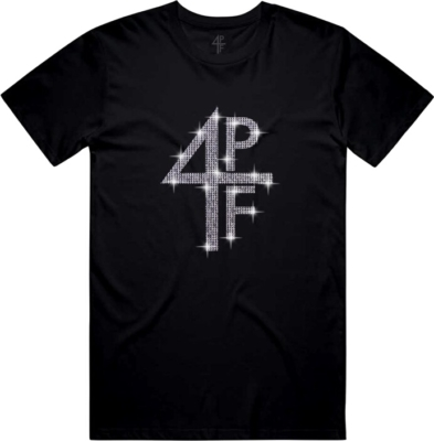 Lil Baby 4pf Merch Crystal Embellished Black T Shirt