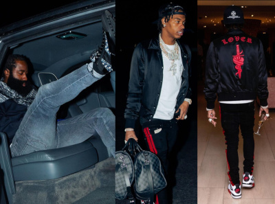 Lil Baby And James Harden Go To Vegas In A Chrome Hearts Amiri Dior Jordan And Louis Vuitton