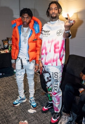 Lil Baby In Moncler Amiri And Dior With Pnb Rock In Off White And Dior