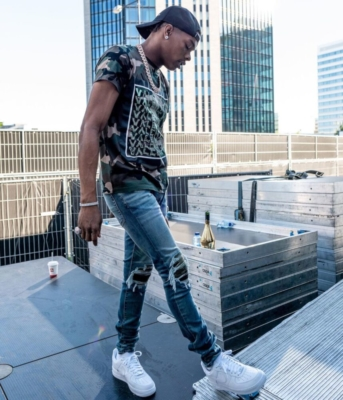 Lil Baby Performs In Amsterdam In A Valentino T Shrit With Amiri Jeans And A Diesel Hat