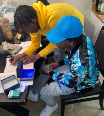 Lil Baby Signs Rapper To His Label In Louis Vuitton Hat Amiri Jacket And Jeans