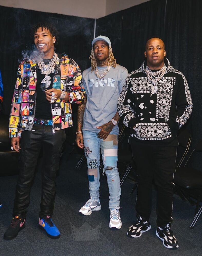Lil Baby With Yo Gotti And Lil Durk In Prada Lv Nike Dior Amiri And Puma