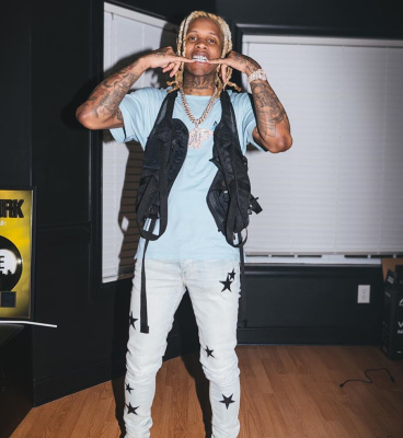 Lil Dirk Flashes His Grill In An Amiri Tee And Jeans With An 1017 Alyx 9sm Vest