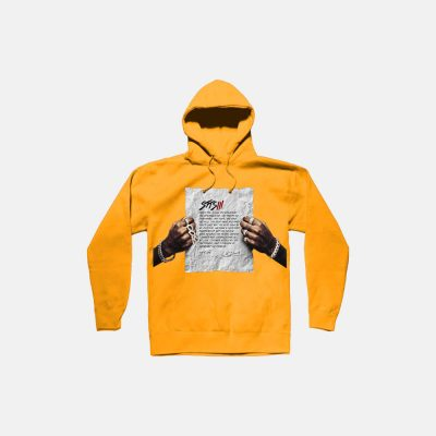 Lil Durk No Label Yellow Hoodie Stts3