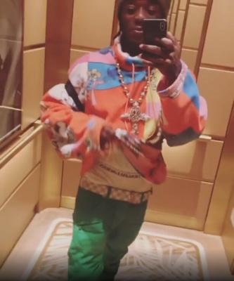 Lil Uzi Vert Loving His Life In Martine Rose Fleece Balmain Jeans And Lv Belt
