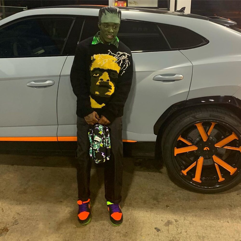 Lil Uzi Vert Wearing Prada X Frankenstein For Halloween