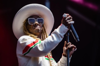 Lil Wayne Performing At The Govenors Ball In A Gucci Cowboy Hat Sweathisrt And Sunglasses
