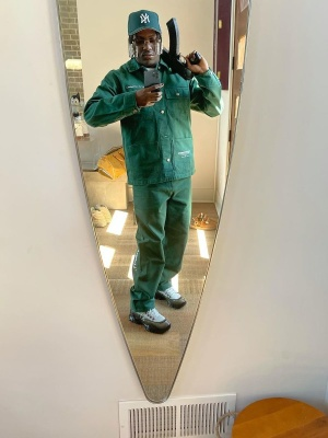 Lil Yachty Wearing A Karhartt Green Jacket And Drip Sneakers