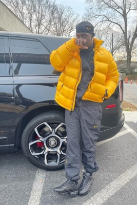 Lil Yachty Wearing A Nochta Puffer And Track Suit With Nike Sneakers