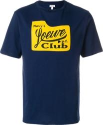 Loesw Navys Club Print Blue T Shirt
