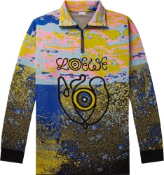 Loewe Abstract Eye Embroidered Quarter Zip