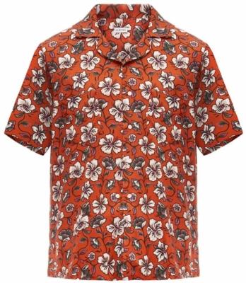 Loewe Brown Hawaiian Print Shirt