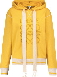 Loewe Yellow And White Logo Embroidered Hoodie