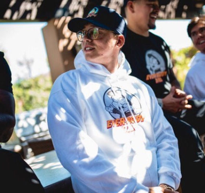 Logic Wearing A Black Bobby Boy Hat And White Everybody Dies Hoodie On Instagram