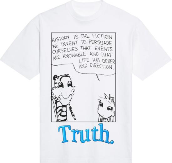 Lost Daze White Truth Print T Shirt