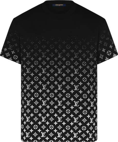 Louis Vuitton Black White Gradient Monogram T Shirt