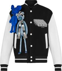 Louis Vuitton Black & White Puppet Varsity Jacket 1a8p1c