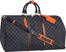 Louis Vuitton Damier Cobalt Race Keepall BandouliÈre 55 Bag