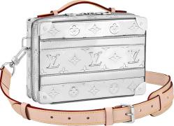 Silver 'Mirror Monogram' Trunk Bag