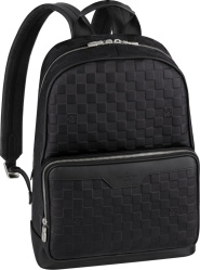 Black Check 'Campus' Backpack