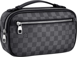 Graphite Check 'Ambler' Bag