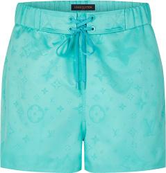 Louis Vuitton Turquoise Monogram 3d Pocket Swim Shorts 1a8r4w
