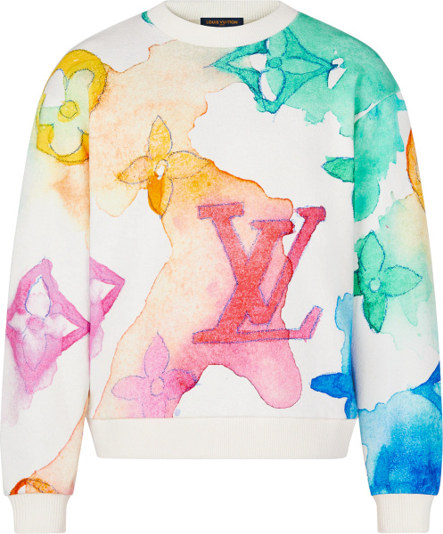 Louis Vuitton Watercolor Monogram Sweatshirt 1a8qv6