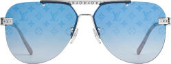 Silver & Blue 'Ash' Sunglasses