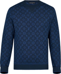 Louis Vuitton Allover Monogram Blue Sweatshirt