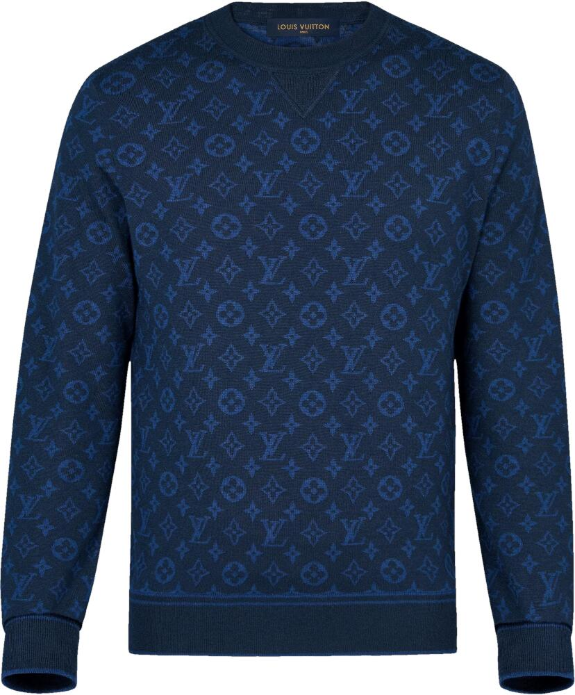 Louis Vuitton Allover Monogram Blue Sweatshirt