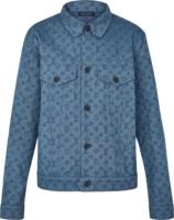 Monogram Embossed Blue Denim Jacket