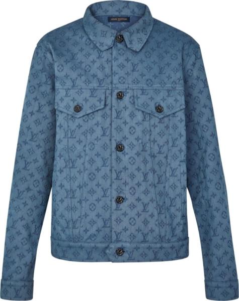Louis Vuitton Allover Monogram Denim Jacket