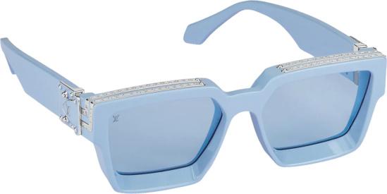 Louis Vuitton Baby Blue 11 Millionaires Square Sunglasses