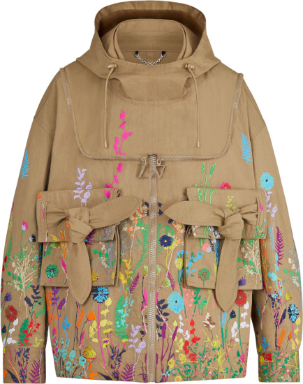 Louis Vuitton Beige And Multicolor Floral Beekeeper Jacket