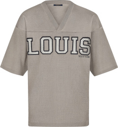 Louis Vuitton Beige Knit Football Jersey