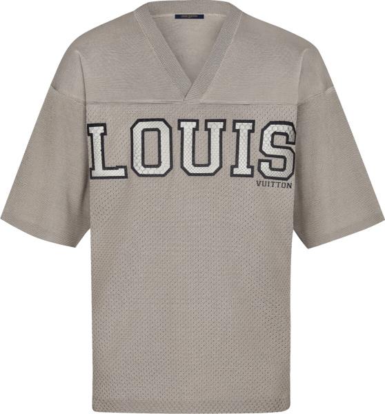 Louis Vuitton Beige Knit Football Jersey